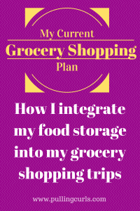 How I have figured out how to integrate my food storage into my grocery shopping plan.