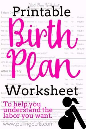birth plan worksheet | template | checklist | Pregnancy | Labor and delivery | epidural | pain | vaccines