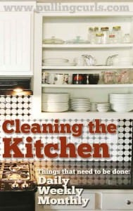 Cleaning the kitchen can feel like a VERY LARGE task. Here's how I break it down on Mondays to make it seem more doable.