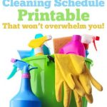 Cleaning Schedule Template: Don't get overwhelmed!