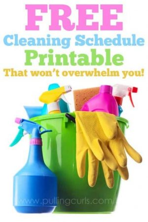 Weekly Cleaning Schedule Template: The Benefits of scheduling a clean home