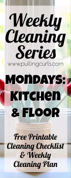 Kitchen cleaning | weekly cleaning | printable | floor