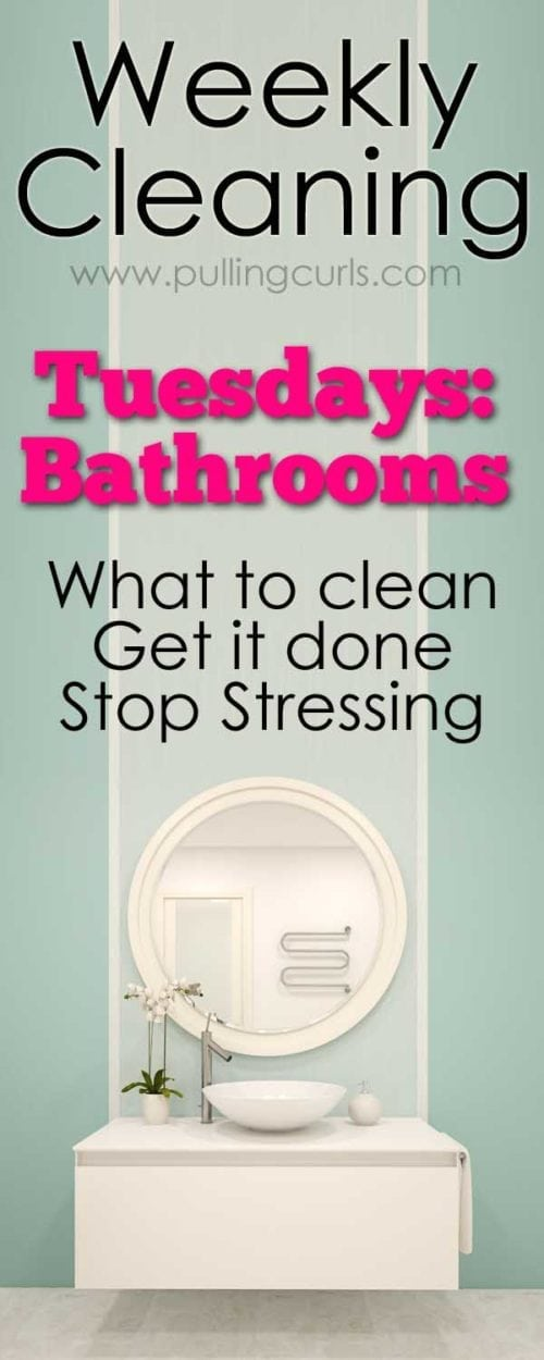 clean bathroom   weekly cleaning   printable   toilets   tile   grout   Organization