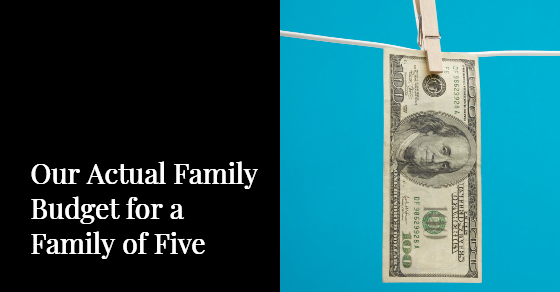 budget examples for family