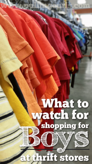 Learning how to shop for boys at thrift stores can save you a lot of money. Check out how this mom shops almost exclusively at thrift stores, while teaching her sons the value of a dollar.