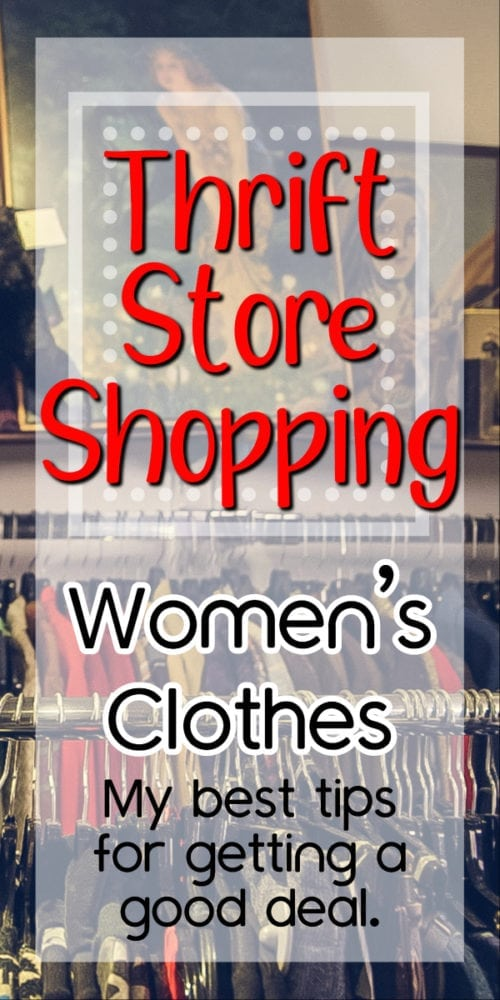 shopping thrift stores for women's clothes