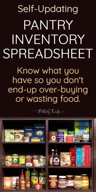 Don't you HATE it when you over-buy items that you already have? This pantry inventory spreadsheet fixes JUST that.