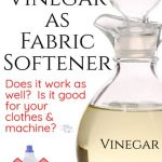 Using Vinegar as Fabric Softener