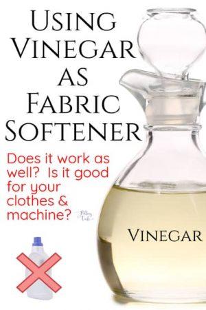 Using Vinegar as Fabric Softener