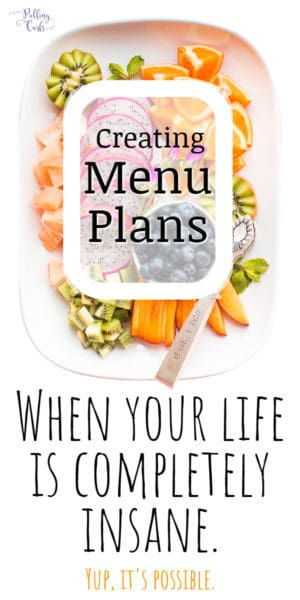 you can STILL menu plan -- even if life seems completely crazy.