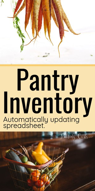 This is my family's Pantry Inventory Spreadsheet. Use this to create a kitchen grocery inventory template so you don't end up over-buying, and ultimately saving money. via @pullingcurls