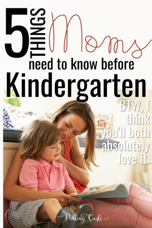 things moms need to know before Kindergarten
