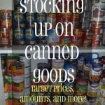 Grocery Shopping:  Buying Canned Goods