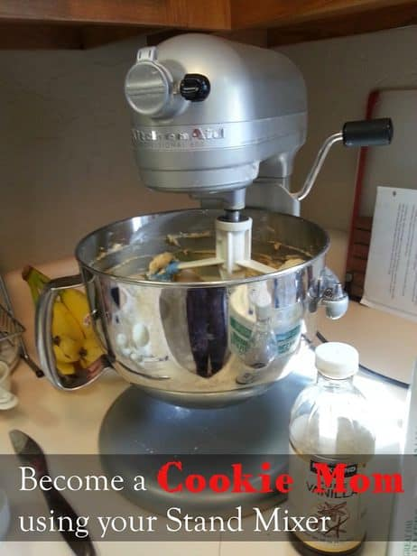 Want to make more cookies?  Home made cookies make my kids so happy, I try to do it often and with the help of my stand mixer I can whip them up much easier {but you have to know what to use it for}