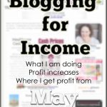 Blogging Income:  May
