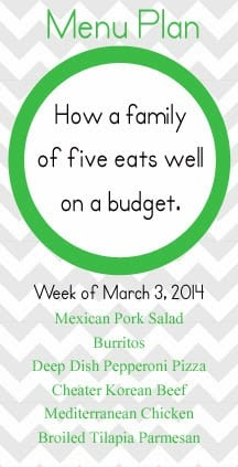 A Healthy, budget friendly family meal plan that will keep everyone happy!