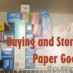 Grocery Shopping:  Buying Paper Goods and storing them.
