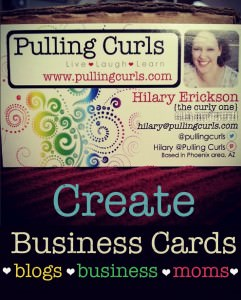 How & why to design a personal business card or a mom card.