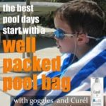 A Well Packed Pool Bag Includes Curél® Itch Defense® Lotion