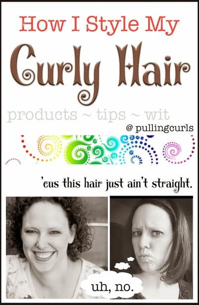 How I style my curly hair -- products, tips and of course, a little wit.