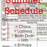 Family Summer Schedule
