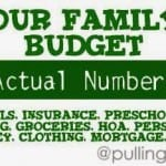 Make A Budget:  Showing our Actual Budget