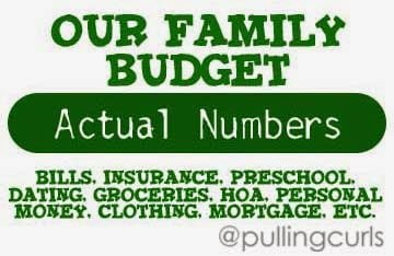 See our actual budget and how much we spend on certain areas of our lives.