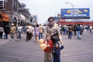 My mom, my brother and me in Atlantic City on one of our road trips -- circa 1978, or so.
