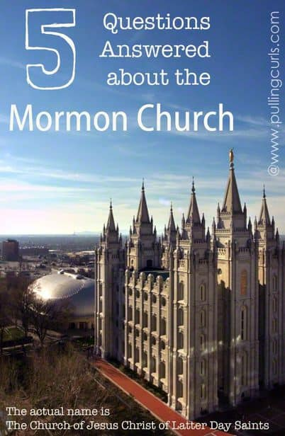 5 questions often asked about Mormons -- Churches, polygamy, garments, etc.