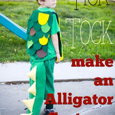 It isn't hard to make an Alligator costume. Goes great with a Peter Pan Theme!