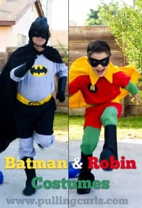 Batman and robin costumes are a fun addition to your Halloween festivities!