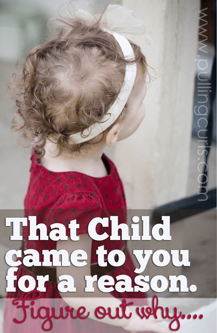 This child came to you for a reason. Would it change your parenting if you figured out why?