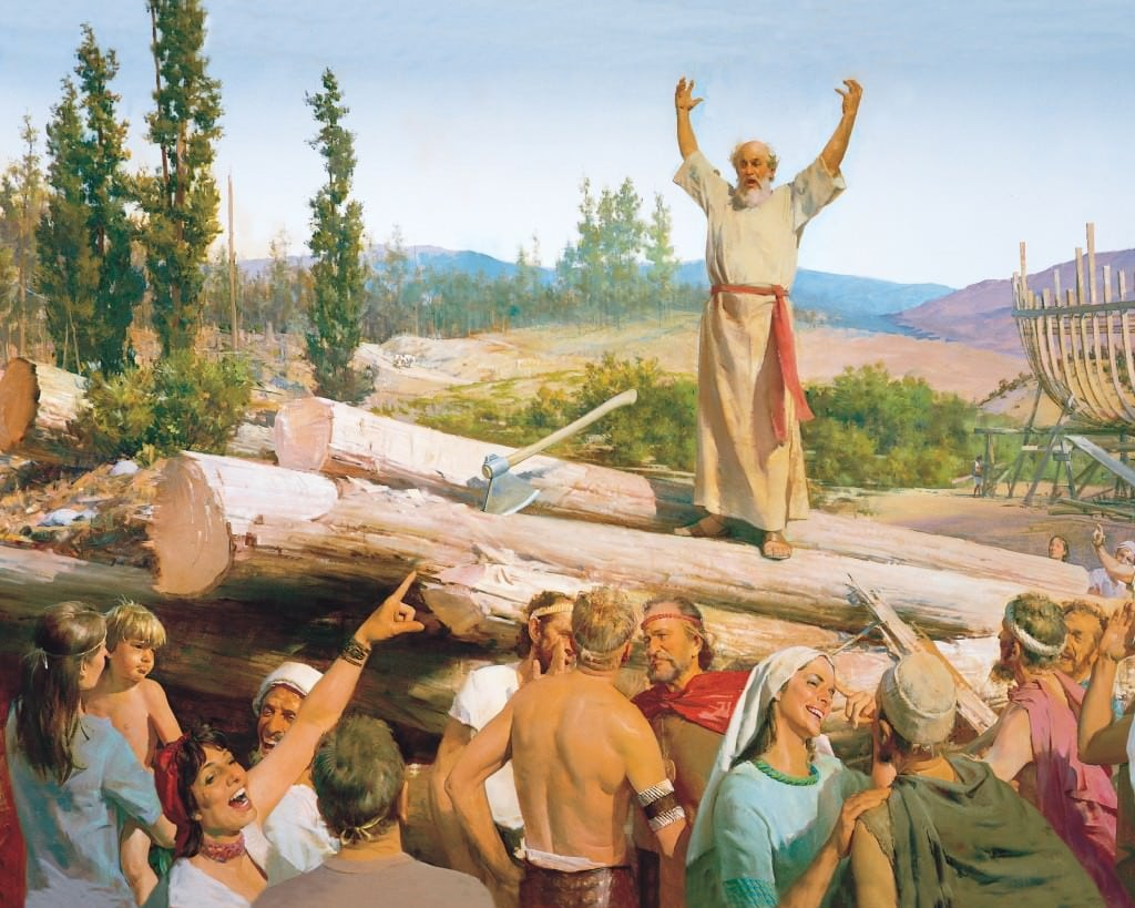 Flood the earth with our gospel message.  Much easier than in Noah's time.