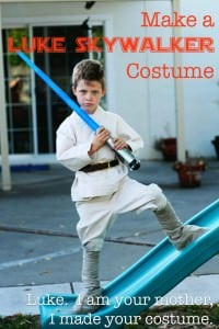 Make a Luke Skywalker costume at home, you can even use items from the store or thrift store!