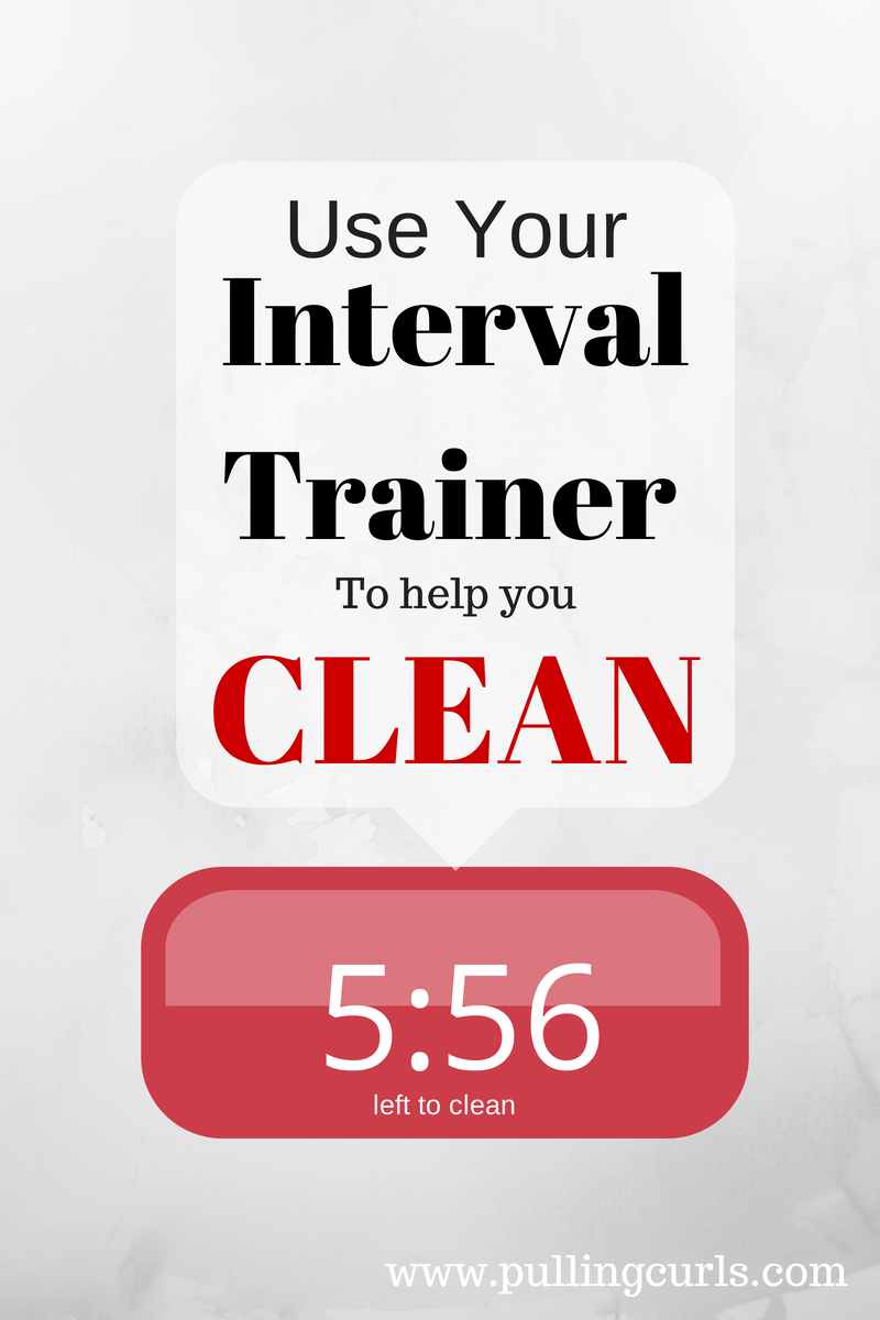 Using an interval timer to help you clean can be an effective way to stay focused and get the job DONE. #cleaning