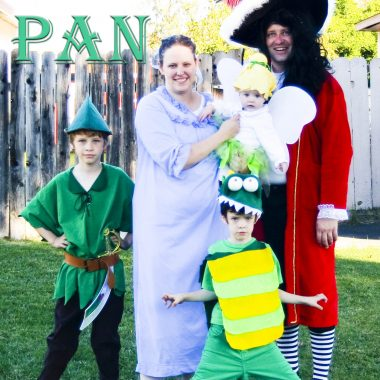 Peter Pan Family Costumes allows a lot of different and fun characters for each member of your family!