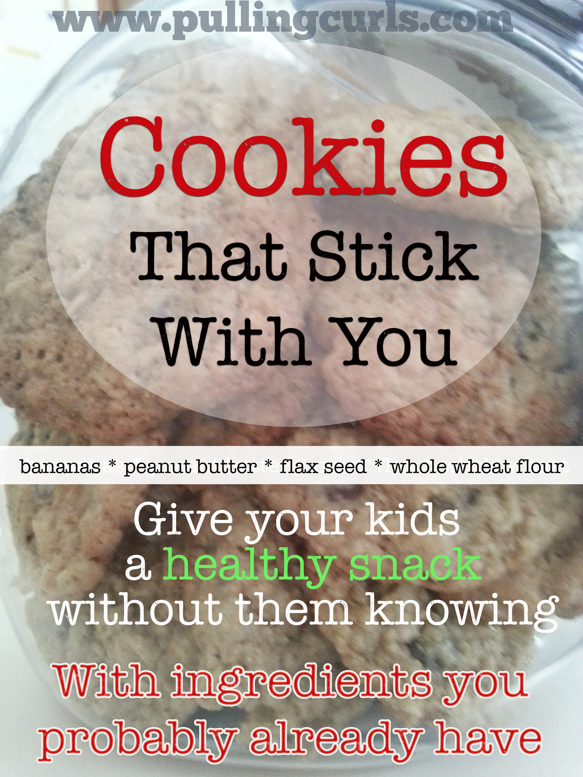 Healthy Cookie Recipes | oatmeal | banana | peanut butter | for kids