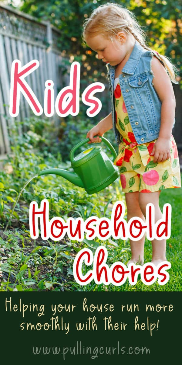 Household Chores for Kids via @pullingcurls