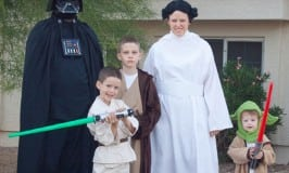 Star Wars is a great family theme. There aer lots of options for larger families with a wide rang of ages