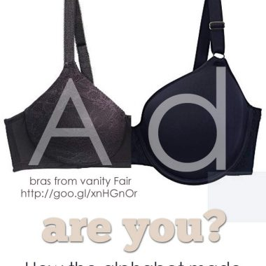 Let the letter of the alphabet that the bra LOOKS like be your guide to best fit.