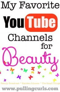 My favorite YouTube beauty vloggers.  I don't like a lot of them, but I like these 3.