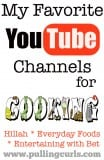 My Favorite Youtube Cooking Channels. There are SO many good ones on YouTube -- there are the 3 I find most amusing, and helpful.