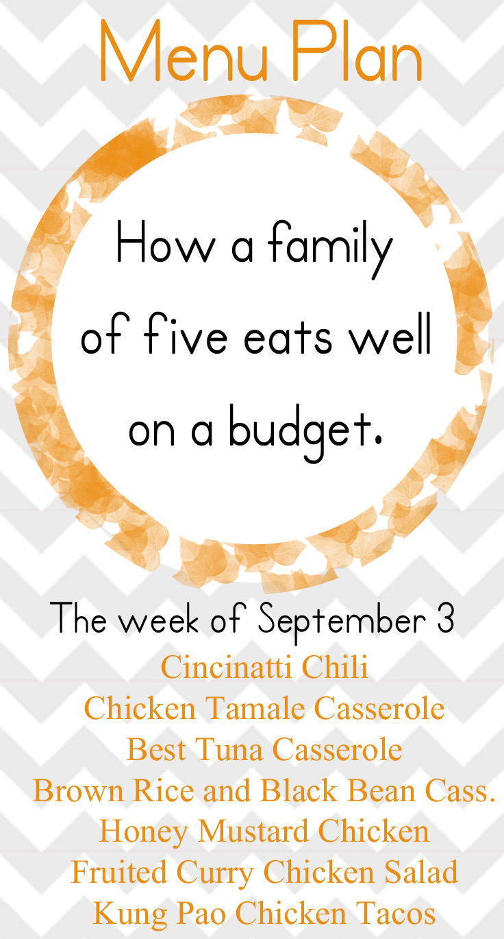 A healthy early fall meal plan with tasty, budget friendly meals your whole family will enjoy!