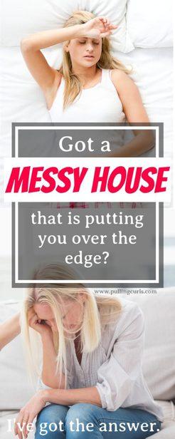 messy house depression