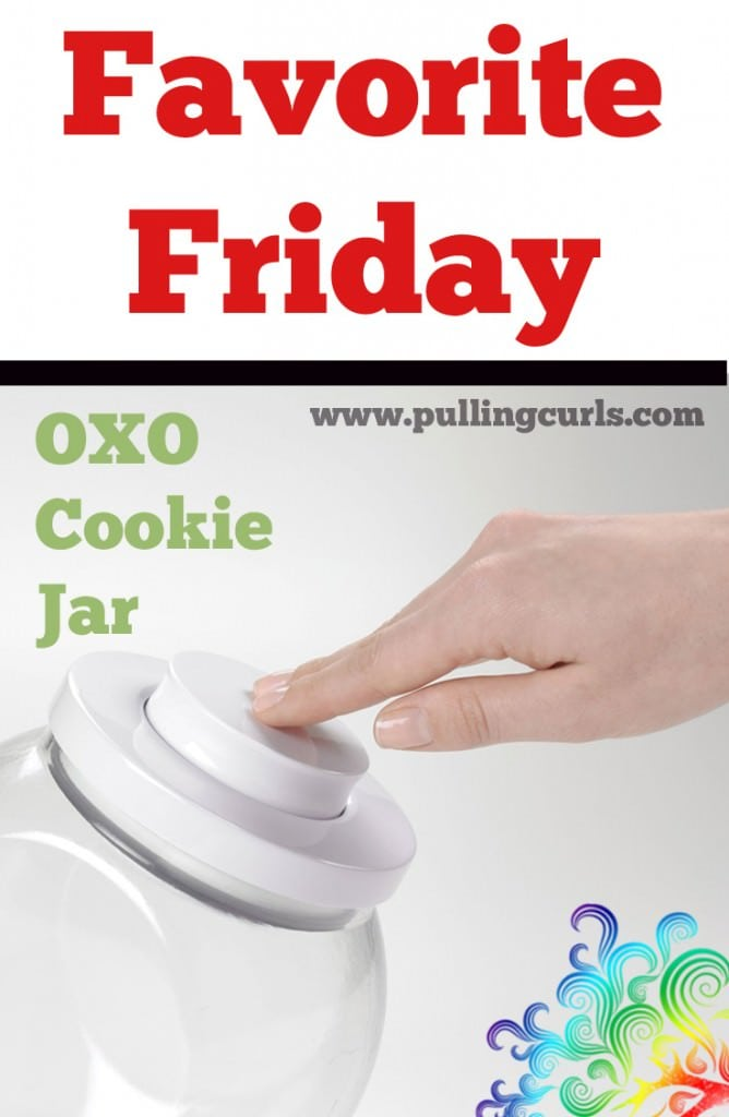 The best cookie jar I have used. Easy for kids to put the lid on and keep the cookies fresh! {it does not prevent people stealing cookies though}