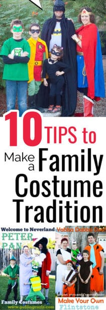 tips to make a family costume tradition