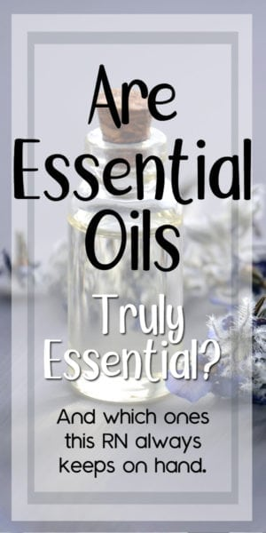 which essential oils does a nurse recommend?