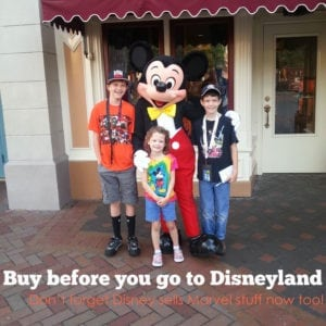 Buying things before you get to Disneyland will save you BIG!