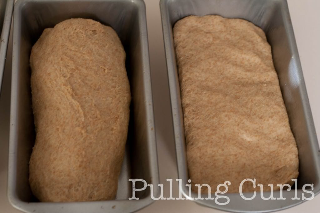 "I do my bread like it is on the right -- makes for less of a ""bread mound"" in the middle of the loaf."