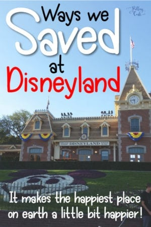 how to save at Disneyland